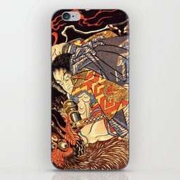 Fight With Tengu iPhone Skin