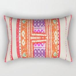 tangerine tribal Rectangular Pillow