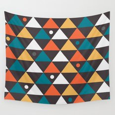 Triangles and a few circles Wall Tapestry