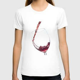 Elegant Red Wine Photo T-shirt