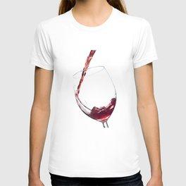 Elegant Red Wine Photo T-shirt