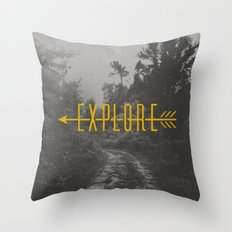 Explore (Arrow) Throw Pillow