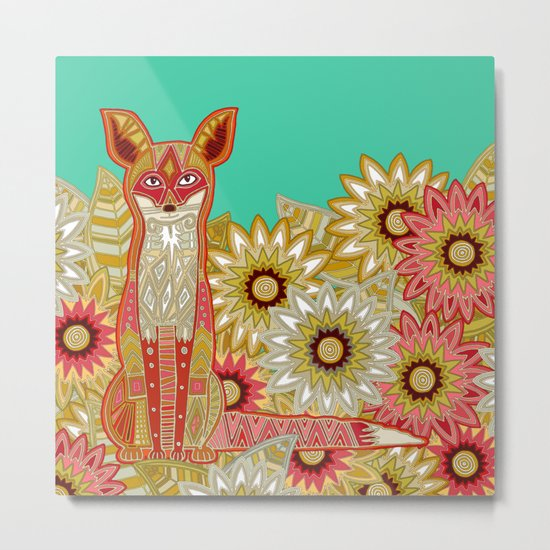 garden fox Metal Print