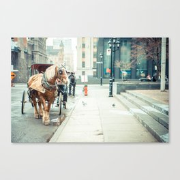 Montreal Taxi Canvas Print
