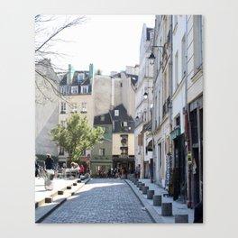 Paris City Streets Canvas Print