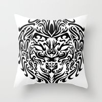 leo Throw Pillows featuring Leo by Mario Sayavedra