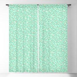 Leopard Print 2.0 - Neo Mint Blackout Curtain