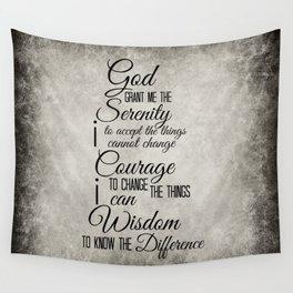 Serenity Prayer Wall Tapestry