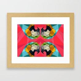 TRIPPY PARROT Framed Art Print