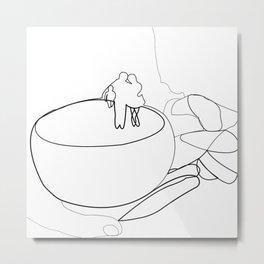 Line Art - Mug People Metal Print