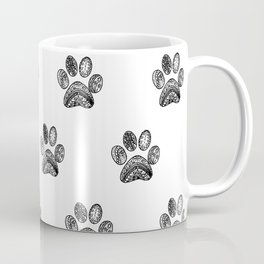 Mandala Dog Foodprint Coffee Mug