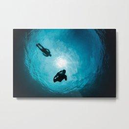 Snorkelers in Snell's Window Metal Print