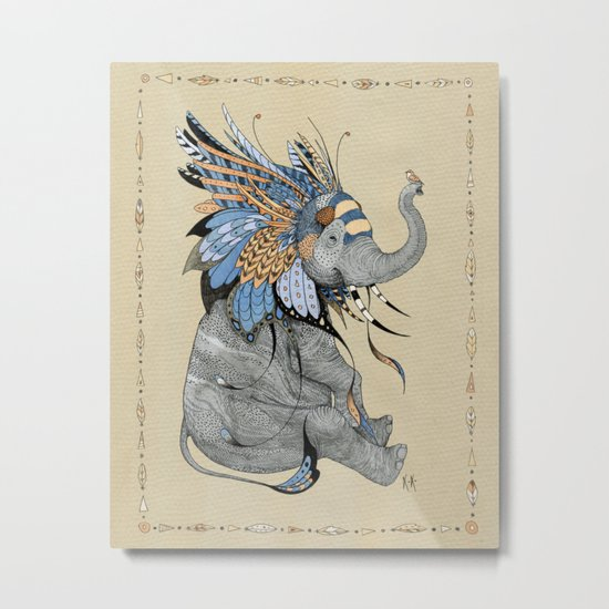 Hybrid Elephant Metal Print
