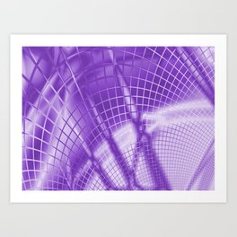 Purple Mesh Art Print