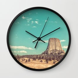 Devil's Tower National Monument Wyoming Wall Clock