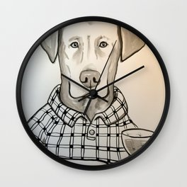 Wine Labrador Wall Clock