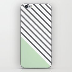 Diagonal Block - Mint iPhone & iPod Skin
