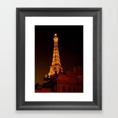 Paris le Vegas Framed Art Print