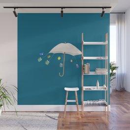 The Umbrella Books Wall Mural
