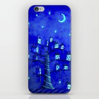the neighbourhood iPhone & iPod Skins featuring New Moon In The Neighbourhood by FLYING TOWN