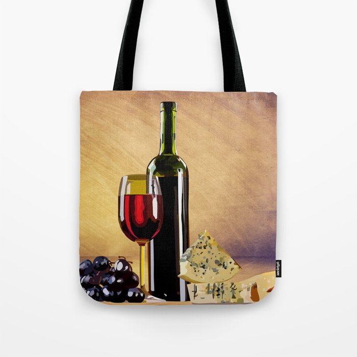Wine & Cheese Tote Bag