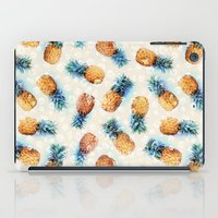 crystals iPad Cases featuring Pineapples + Crystals  by micklyn