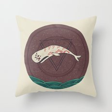 The Devil Roams These Waters Throw Pillow