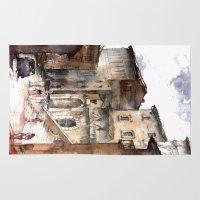 italy Area & Throw Rugs featuring Cortona, Italy by zawij