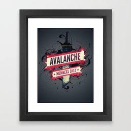 Final Fantasy VII - Avalanche Member's Only Framed Art Print