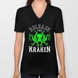 Release The Kraken Unisex V-Neck