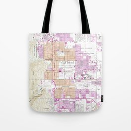 Vintage Map of Palm Springs California (1957) Tote Bag