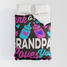 Pink or Blue GRANDPA Loves You! Congratulate parents-to-be Comforters