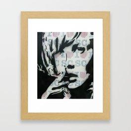 GIRL SMOKING Framed Art Print