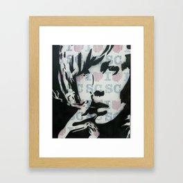 GIRL SMOKING Framed Art Print