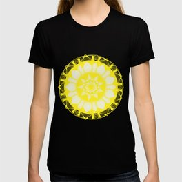 Mandala Sunflower White & Yellow T-shirt