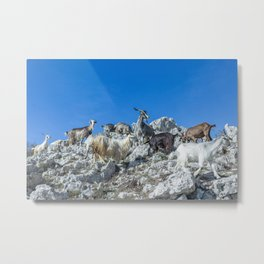 Climbing on the top of Redentore Mountain Metal Print