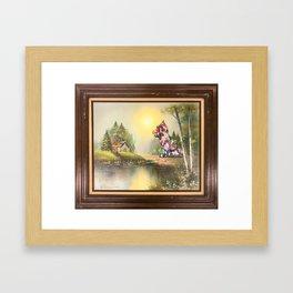 Flower Puppy Framed Art Print