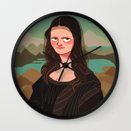 The mysterious smile of Mona Lisa Wall Clock