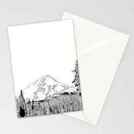 Mount Hood Oregon Black & White Sketch Stationery Cards