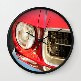 Vintage american car detail Wall Clock