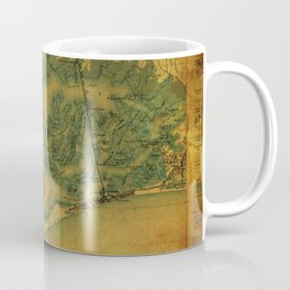 Brooklin 1898 vintage map, usa old vintage maps Coffee Mug