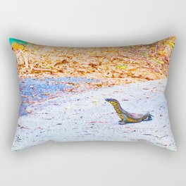 Goanna on a road in Australia Rectangular Pillow
