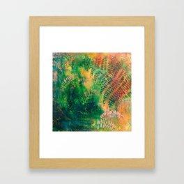 Ferns in color Framed Art Print