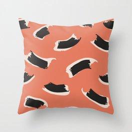 Animal Stripes in Terracotta Throw Pillow