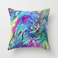 fairy Throw Pillows featuring Fairy by Lizzshop