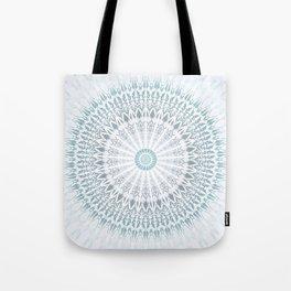 Teal Aqua Mandala Tote Bag