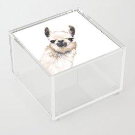 Sneaky Llama White Acrylic Box