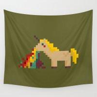 unicorn Wall Tapestries featuring unicorn by MariMari
