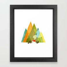 House at the foot of the mountains Framed Art Print