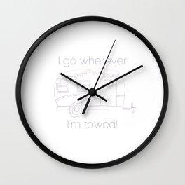 Airstream Art Wall Clock